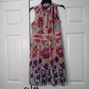 AGB Floral Sheer Dress Size 8